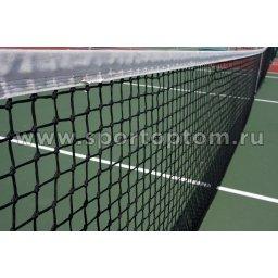 Сетка для большого тенниса (нить 2,2 мм) 12,8*1,05 м Черный