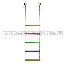 Веревочная лестница 5 перекладин ЛВ5-3В-15  150 см Радуга