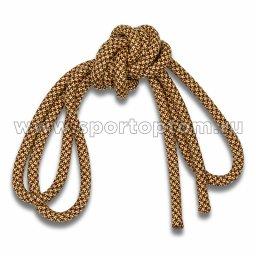 Скакалка гимнастическая (веревочная) Утяжеленная INDIGO ЛЮРЕКС (10)