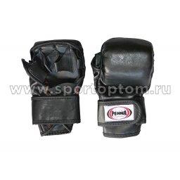 Перчатки таэквондо PENNA натуральная кожа  04-003 Черный
