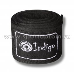 Бинт боксерский INDIGO 1115 Черный