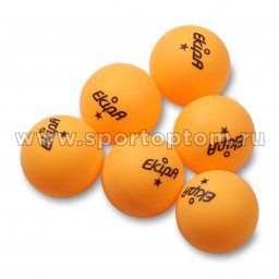 Шарики для настольного тенниса EKIPA 1 звезда 6шт  EP02 40 мм Желтый