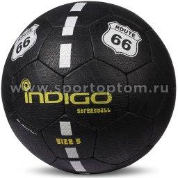 Мяч футбольный №5 INDIGO STREETBALL  для игры на асфальте (PU прорезиненный) E03 Черный