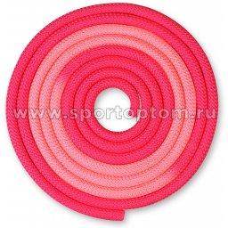 Скакалка для художественной гимнастики утяжеленная двухцветная INDIGO 165 г IN257 3 м Фуксия-розовый