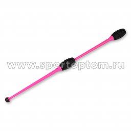 Булавы для художественной гимнастики вставляющиеся INDIGO Розово-черный (2)