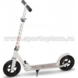 Самокат взрослый до 100 кг, колеса 200 мм GSS-A2-004P Бело-черный