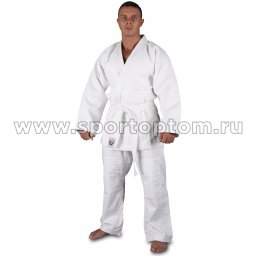 Кимоно дзюдо хлопок куртка 600-650г/м2,брюки 280-320г/м2  RA-001 Белый