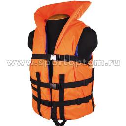 Жилет страховочный с подголовником до 150 кг SM-033 XXL (60-64) Оранжевый