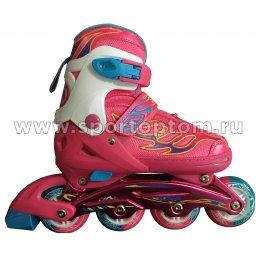 Роликовые коньки раздвижные SWAN TE-281 38-41 Бело-розовый