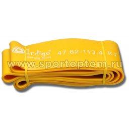 Эспандер резиновая петля сопротивления Кроссфит INDIGO 97660 IR 208*10,1см Желтый