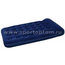 Кровать BW флокированная надувная 2-х местная 67225 191*137*28 см Синий