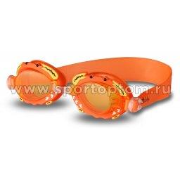 Очки для плавания детские INDIGO  Крабик  1771 G Оранжевый