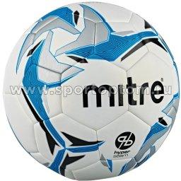 Мяч футбольный №5  MITRE ASTRO DIVISION HYPERSEAM матчевый (термопластичн.PU) BB1069WKR Бело-Голубой