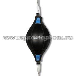 Груша пневмо INDIGO н/кожа, 2-х сторонняя, на растяжках PS-1058 Черно-синий