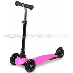Самокат детский INDIGO BRAVE трехколесный до 30 кг IN245 Розовый