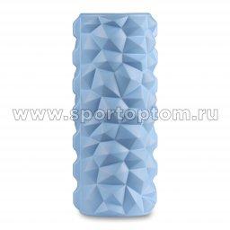 Ролик массажный для йоги INDIGO PVC IN279 голубой (2)