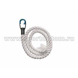 Канат для лазания  диаметр 28мм (хлопок) К-АТ1 2.0 м Белый