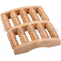 Массажер деревянный для ног зубчатый МА4215