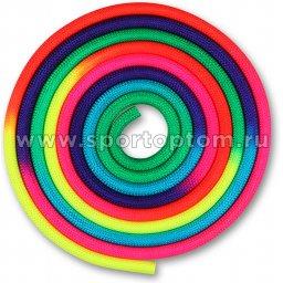 Скакалка для художественной гимнастики утяжеленная семицветная  INDIGO 165 г IN038 Радуга (2)