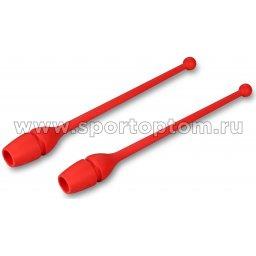 Булавы для художественной гимнастики вставляющиеся AMAYA tecnocaucho обрезиненные 3200110 41 см Красный