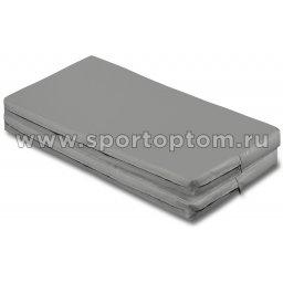 Мат гимнастический складной SM-108  Серый металлик (2)