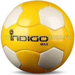 Мяч футбольный №5 INDIGO MAX  тренировочный (PU 1.6 мм) N005 Желто-белый