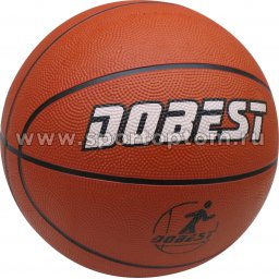 Мяч баскетбольный №7 DOBEST (резина) 0886-7RB Оранжевый