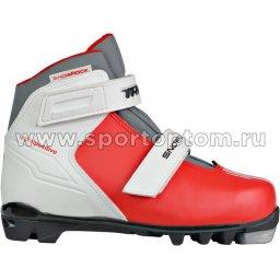 Ботинки лыжные NNN TREK Snowrock 2 ремня синтетика TR-273 Красный (лого черный)