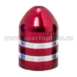 """Вело Колпачок  алюминиевый в форме """"Пули"""" KWX-2-04 Красный"""
