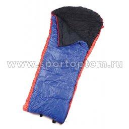 Спальник SM одеяло с капюшоном -5-15 SM-307 90*225 см Красно-синий