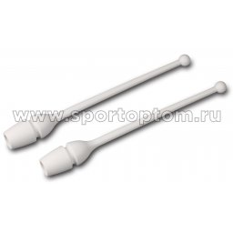 Булавы для художественной гимнастики вставляющиеся AMAYA (термопластик) 320202 41 см Белый