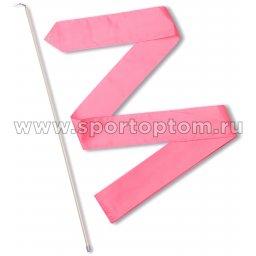 Лента гимнастическая с палочкой 50 см СЕ4 4,0 м Розовый
