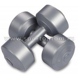 Гантели виниловые  EK-212 4,0кг*2шт Серый металлик