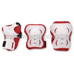 Защита роликовая  тройная детская 1531                      S Красный
