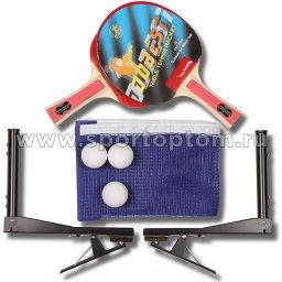 Набор для настольного тенниса DOBEST 1 звезда (2 ракетки, 3 шарика, сетка с креплением, чехол) 19 BB