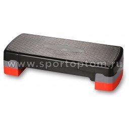 Степ-платформа для аэробики 2 уровня INDIGO HKST105 67*27*10/15 см Черно-красный