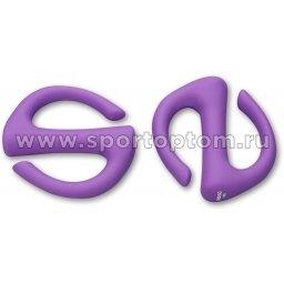 Гантели обливные с неопреновым покрытием S-образные INDIGO IN133 1 кг*2шт Фиолетовый