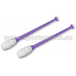 Булавы для художественной гимнастики вставляющиеся INDIGO Фиолетово-белый (3)