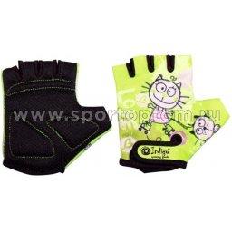 Перчатки вело детские Котик INDIGO SB-01-8875 Зеленый