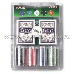 Игра Покер QH-100 (2 кол. карт, 100 фиш. номин, 1 дил, сукно 09231