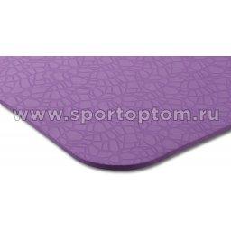 Коврик для йоги и фитнеса INDIGO TPE с рисунком IN020 Фиолетовый (3)