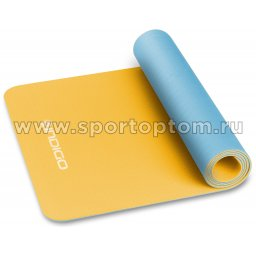 Коврик для йоги и фитнеса INDIGO TPE двусторонний IN106 желто-голубой (3)