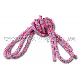 Скакалка гимнастическая (веревочная) Утяжеленная INDIGO ЛЮРЕКС (12)