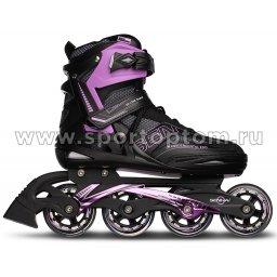 Роликовые коньки SENHAI PW-150G Черно-фиолетовый
