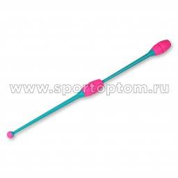 Булавы для художественной гимнастики вставляющиеся INDIGO Бирюзово-розовый (2)