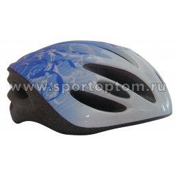Вело Шлем подросковый SENHAI  PW-921-193 52-56 Бело-Голубой