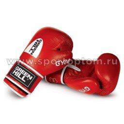 Перчатки боксёрские Green Hill GYM н/к BGG-2018 14 унций Красный
