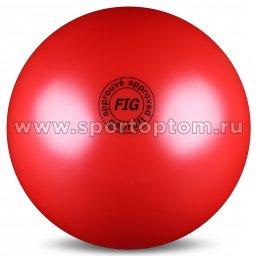 Мяч для художественной гимнастики силикон FIG Металлик 420 г AB2801 19 см Красный