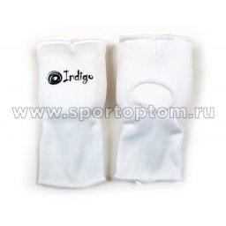 Суппорт кисть-запястье эластичный INDIGO полуперчатка   PS-1305                   L Белый