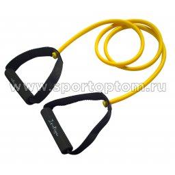 Эспандер для степа LATEX INDIGO LIGHT 1 жгут SM-067 130 см Желтый